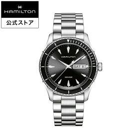 ハミルトン 公式 腕時計 HAMILTON Jazzmaster Seaview Day Date ジャズマスター シービュー デイデイト クオーツ 42.00MM ステンレススチールブレス ブラック × シルバー H37511131 メンズ腕時計 男性 正規品 ブランド