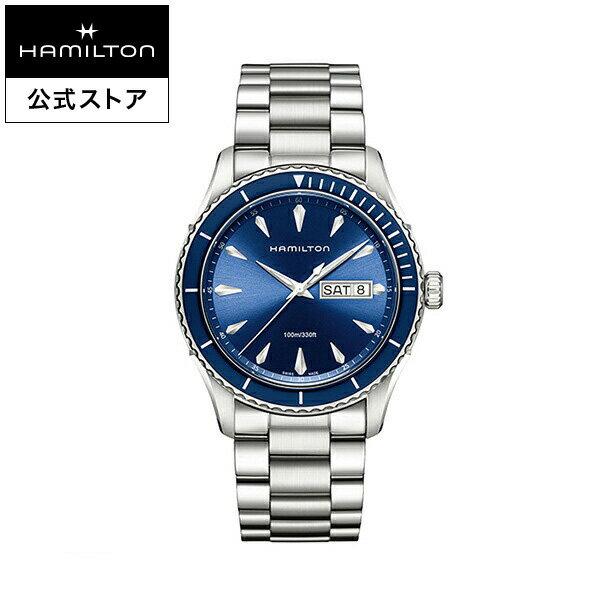 ハミルトン 公式 腕時計 Hamilton Jazzmaster Seaview Day Date ジャズマスター シービュー デイデイト メンズ メタル | 正規品 時計 メンズ腕時計 ブランド クォーツ ウォッチ クオーツ ビジネス 男性 ウオッチ 青文字盤 スーツ クールビズ オフィス ギフト プレゼント