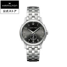 ハミルトン 公式 腕時計 HAMILTON Jazzmaster Thinline Small Second ジャズマスター シンライン スモールセコンド クオーツ 40.00MM ステンレススチールブレス ブラック × シルバー H38411183 メンズ腕時計 男性 正規品 ブランド
