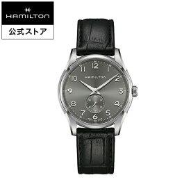 ハミルトン 公式 腕時計 HAMILTON Jazzmaster Thinline Small Second ジャズマスター シンライン スモールセコンド クオーツ 40.00MM レザーベルト グレー × ブラック H38411783 メンズ腕時計 男性 正規品 ブランド