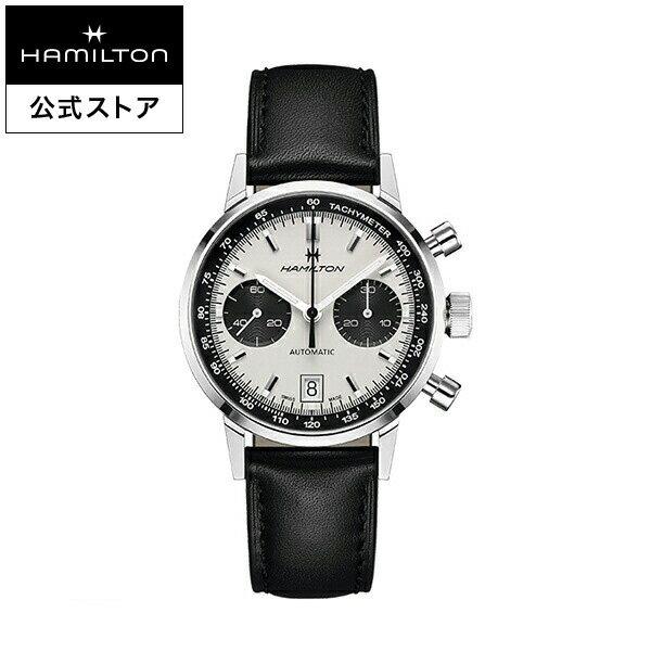 ハミルトン 公式 腕時計 Hamilton Intra-Matic Auto Chrono アメリカンクラシック イントラマティックオートクロノ メンズ レザー | 正規品 時計 メンズ腕時計 革ベルト ブラック ブランド腕時計 ビジネス 紳士時計 うでとけい 男性腕時計 watch 男性 ウオッチ