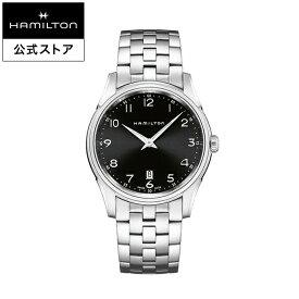 ハミルトン 公式 腕時計 HAMILTON Jazzmaster Thinline ジャズマスター シンライン クオーツ 42.00MM ステンレススチールブレス ブラック × シルバー H38511133 メンズ腕時計 男性 正規品 ブランド ビジネス シンプル