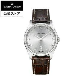 ハミルトン 公式 腕時計 Hamilton Jazzmaster Thinline ジャズマスター シンライン メンズ レザー | 正規品 時計 メンズ腕時計 ブランド ギフト クォーツ 革ベルト ビジネス 22mm 男性腕時計 watch クオーツ 革 シンプル 電池式 レザーベルト
