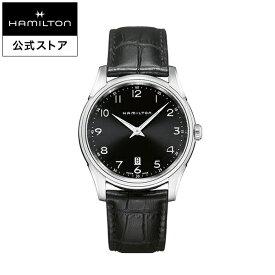 ハミルトン 公式 腕時計 HAMILTON Jazzmaster Thinline ジャズマスター シンライン クオーツ 42.00MM レザーベルト ブラック × ブラック H38511733 メンズ腕時計 男性 正規品 ブランド ビジネス シンプル