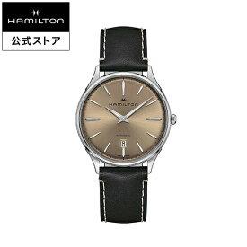 ハミルトン 公式 腕時計 Hamilton Jazzmaster Thinline 40mm ジャズマスター シンライン オート メンズ レザー | 正規品 時計 メンズ腕時計 ブランド 革ベルト ウォッチ 自動巻 ビジネス watch 革 男性 オフィス スーツ ファッション時計 ブラウン カジュアル