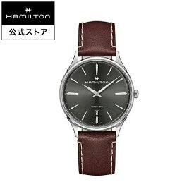 ハミルトン 公式 腕時計 HAMILTON Jazzmaster Thinline ジャズマスター シンライン オートマティック 自動巻き 40.00MM レザーベルト グレー × レッド H38525881 メンズ腕時計 男性 正規品 ブランド ビジネス シンプル
