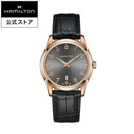 ハミルトン 公式 腕時計 HAMILTON Jazzmaster Thinline ジャズマスター シンライン クオーツ 42.00MM レザーベルト グレー × ブラック H38541783 メンズ腕時計 男性 正規品 ブランド ビジネス シンプル