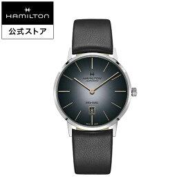 ハミルトン 公式 腕時計 HAMILTON American Classic Intra-Matic アメリカンクラシック イントラマティック オートマティック 自動巻き 42.00MM レザーベルト グレー × ブラック H38755781 メンズ腕時計 男性 正規品 ブランド