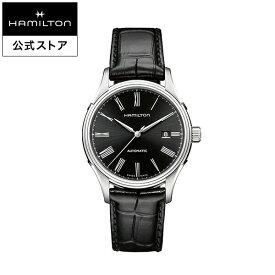 ハミルトン 公式 腕時計 HAMILTON American Classic Valiant アメリカンクラシック バリアント オートマティック 自動巻き 40.00MM レザーベルト ブラック × ブラック H39515734 メンズ腕時計 男性 正規品 ブランド ビジネス シンプル