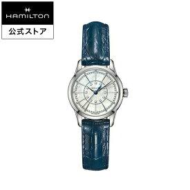 Hamilton ハミルトン 公式 腕時計 RailRoad Lady アメリカンクラシック レイルロード レディ レディース レザー H40311691 | 正規品 時計 ブランド クォーツ 革ベルト レディース腕時計 ウォッチ レディースウォッチ 女性 watch クオーツ ブルー 青 14mm モダン ダイヤモンド