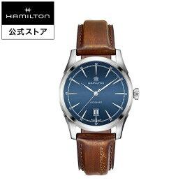 ハミルトン 公式 腕時計 HAMILTON American Classic Spirit of Liberty アメリカンクラシック スプリットオブリバティ オートマティック 自動巻き 42.00MM レザーベルト ブルー × ブラウン H42415541 メンズ腕時計 男性 正規品 ブランド