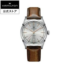 ハミルトン 公式 腕時計 HAMILTON American Classic Spirit of Liberty アメリカンクラシック スプリットオブリバティ オートマティック 自動巻き 42.00MM レザーベルト シルバー × ブラウン H42415551 メンズ腕時計 男性 正規品 ブランド