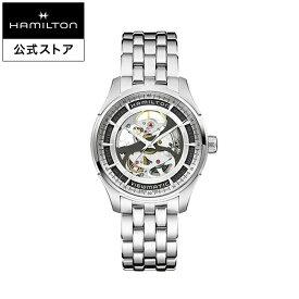 ハミルトン 公式 腕時計 HAMILTON Jazzmaster Viewmatic Skeleton Gent ジャズマスター ビューマティック スケルトン ジェント オートマティック 自動巻き 40.00MM ステンレススチールブレス シルバー × シルバー H42555151 メンズ腕時計 男性 正規品 ブランド