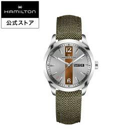 ハミルトン 公式 腕時計 Hamilton Broadway Day Date ブロードウェイ デイデイト メンズ テキスタイル | 正規品 時計 メンズ腕時計 ギフト クォーツ ブランド腕時計 ベルト ウォッチ クオーツ watch グリーン 男性 紳士 プレゼント メンズウォッチ