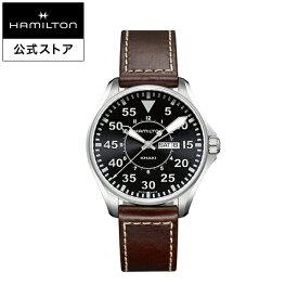 ハミルトン 公式 腕時計 Hamilton Khaki Pilot Day Date カーキ アビエーション パイロット デイデイト メンズ レザー | 正規品 時計 メンズ腕時計 ブランド 革ベルト ウォッチ ブランド腕時計 ビジネス うでとけい watch 紳士 革 男性 ウオッチ メンズウォッチ