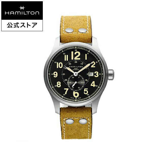 【ハミルトン 公式】 Hamilton Khaki Officer カーキ フィールド オフィサーオート メンズ レザー | 腕時計 時計 メンズ腕時計 ブランド ブランド腕時計 うでとけい ベルト ウォッチ ビジネス watch ウオッチ メンズウォッチ 男性用腕時計 男性 紳士 男性腕時計 おしゃれ
