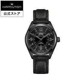 ハミルトン 公式 腕時計 HAMILTON Khaki Field Day Date カーキ フィールド デイデイト オートマティック 自動巻き 42.00MM ラバーベルト ブラック × ブラック H70695735 メンズ腕時計 男性 正規品 ブランド アウトドア