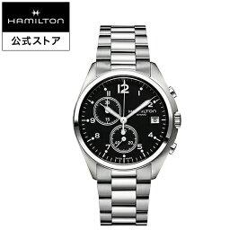 ハミルトン 公式 腕時計 HAMILTON Khaki Aviation Khaki Pilot カーキ アビエーション パイオニア クオーツ 41.00MM ステンレススチールブレス ブラック × シルバー H76512133 メンズ腕時計 男性 正規品 航空時計 パイロットウォッチ