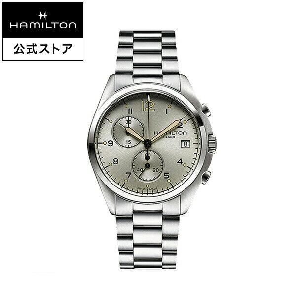 Hamilton ハミルトン 公式 腕時計 Khaki Pilot Pioneer カーキ アビエーション パイロット パイオニア クロノ メンズ メタル | 正規品 時計 メンズ腕時計 ブランド ブレスレットウォッチ ウォッチ パイロットウォッチ watch アビエイション 紳士 男性 メンズウォッチ