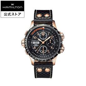 【エントリーでポイント5倍!12/4 20:00〜】ハミルトン 公式 腕時計 Hamilton Khaki X-Wind カーキ アビエーション X-Wind X-ウィンド メンズ レザー H77696793 正規品 時計 メンズ腕時計 ブランド クロノグラフ 革ベルト ウォッチ