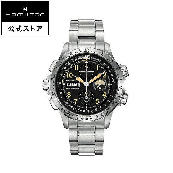 ハミルトン 公式 腕時計 Hamilton Khaki X-wind Auto Chrono Limited Edition カーキ X-ウィンド オートクロノ 限定モデル メンズ メタル| 正規品 COSC認定 時計 メンズ腕時計 ウォッチ 機械式 自動巻 ブランド 男性 パイロット パイロットウォッチ クロノメーター 父の日