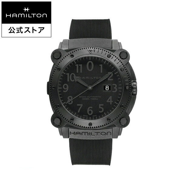 ハミルトン 公式 腕時計 Hamilton Khaki BeLOWZERO 1000m カーキ ネイビー ビロウゼロ1000 メンズ ラバー | 正規品 時計 メンズ腕時計 ダイバーズウォッチ ウォッチ 防水 機械式 自動巻 男性 おしゃれ 黒 アウトドア 100気圧防水 ダイバー 海 ブラック ダイビング 父の日