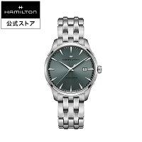 ハミルトン公式腕時計メンズジャズマスタージェントクオーツ電池式40mmモスグリーンモスグリーンステンレススチールメタルH32451142