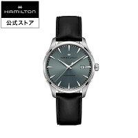ハミルトン公式腕時計メンズジャズマスタージェントクオーツ電池式40mmモスグリーンブラックメタルベルトH32451742