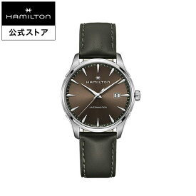 ハミルトン 公式 腕時計 メンズ ジャズマスター ジェント クオーツ 電池式 40mm ブラウン カーキ 革ベルト H32451801 男性 男性用腕時計 ギフト ブランド ギフト おしゃれ