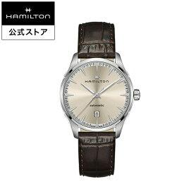 ハミルトン 公式 腕時計 HAMILTON Jazzmaster ジャズマスター ジェント オートマティック 自動巻き 40MM レザーベルト ベージュ × ブラウン H32475520 メンズ腕時計 男性 正規品 ブランド ビジネス シンプル