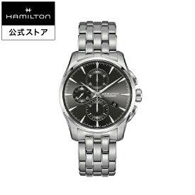 ハミルトン 公式 腕時計 HAMILTON Jazzmaster ジャズマスター オートマティック 自動巻き 42.00MM ステンレススチールブレス チャコールグレー × シルバー H32586181 メンズ腕時計 男性 正規品 ブランド ビジネス シンプル