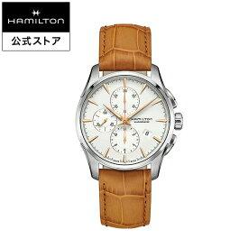 ハミルトン 公式 腕時計 HAMILTON Jazzmaster ジャズマスター オートマティック 自動巻き 42.00MM レザーベルト ホワイト × ブラウン H32586511 メンズ腕時計 男性 正規品 ブランド ビジネス シンプル
