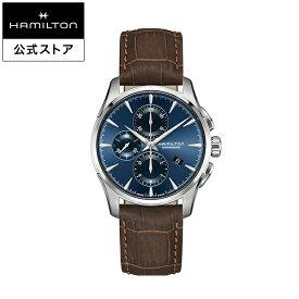 ハミルトン 公式 腕時計 HAMILTON Jazzmaster ジャズマスター オートマティック 自動巻き 42.00MM レザーベルト ブルー × ブラウン H32586541 メンズ腕時計 男性 正規品 ブランド ビジネス シンプル