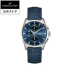 ハミルトン 公式 腕時計 HAMILTON Jazzmaster ジャズマスター オートマティック 自動巻き 42.00MM レザーベルト ブルー × ブルー H32586641 メンズ腕時計 男性 正規品 ブランド ビジネス シンプル