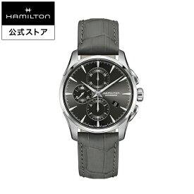 ハミルトン 公式 腕時計 HAMILTON Jazzmaster ジャズマスター オートマティック 自動巻き 42.00MM レザーベルト チャコールグレー × グレー H32586881 メンズ腕時計 男性 正規品 ブランド ビジネス シンプル