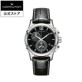ハミルトン 公式 腕時計 HAMILTON Jazzmaster ジャズマスター クオーツ 42.00MM レザーベルト ブラック × ブラック H32612731 メンズ腕時計 男性 正規品 ブランド ビジネス シンプル