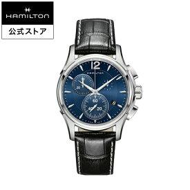 Hamilton ハミルトン 公式 腕時計 JM D CQ42-bl-l-sch ジャズマスター クロノクォーツ メンズ レザー