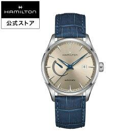 ハミルトン 公式 腕時計 HAMILTON Jazzmaster Power Reserve ジャズマスター パワーリザーブ オートマティック 自動巻き 42.00MM レザーベルト ベージュ × ブルー H32635622 メンズ腕時計 男性 正規品 ブランド ビジネス シンプル