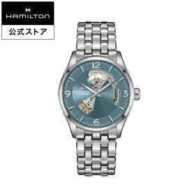 ハミルトン 公式 腕時計 HAMILTON Jazzmaster Open Heart ジャズマスター オープンハート オートマティック 自動巻き 42.00MM ステンレススチールブレス ブルー × シルバー H32705142 メンズ腕時計 男性 正規品 ブランド ビジネス シンプル
