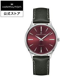 ハミルトン 公式 腕時計 HAMILTON Jazzmaster Thinline ジャズマスター シンライン オートマティック 自動巻き 40.00MM レザーベルト レッド × グレー H38525771 メンズ腕時計 男性 正規品 ブランド ビジネス シンプル