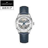 JMSKELETONジャズマスタースケルトン腕時計オート自動巻き40MMシルバー×ブラックレザー