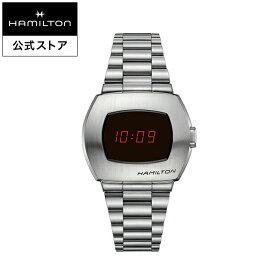 ハミルトン 公式 腕時計 HAMILTON American Classic PSR アメリカンクラシック PSR デジタル クオーツ クォーツ 40.80MM ステンレススチールブレス ブラック × シルバー H52414130 メンズ腕時計 男性 正規品 ブランド ビジネス シンプル