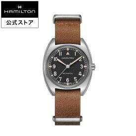 ハミルトン 公式 腕時計 HAMILTON Khaki Aviation Khaki Pilot カーキ アビエーション パイオニア メカニカル 機械式 手巻き 36.00MM レザーベルト ブラック × ブラウン H76419531 メンズ腕時計 男性 正規品 航空時計 パイロットウォッチ