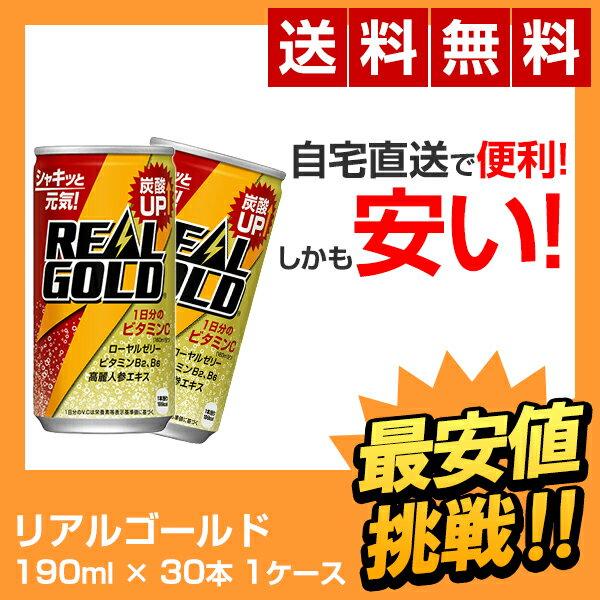 【全国送料無料】リアルゴールド 190ml缶(30本×1ケース) REAL GOLD 190mL 30本 コカコーラ 炭酸飲料 エネルギー飲料
