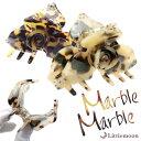 べっ甲 花 フラワー ヘアクリップ 大きめ クリップ クリスタル【Marble Marble バンスクリップ】アナベル[べっ甲風 …