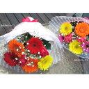 【 あす楽対応 15時まで 】 【 生花 】【 バラ と ガーベラ と カスミソウ の花束 】ホワイトデーにちょっとしたお礼に 花 ギフト 誕生日 楽ギフ_メッセ入力 バラ 薔薇 ローズ 花束