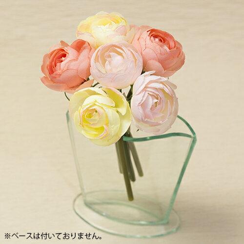 ラナンキュラスバンチアートフラワー(造花)消臭抗菌 光触媒orテルクリン選択可高さ19cm×幅10cm×花径4.5cm