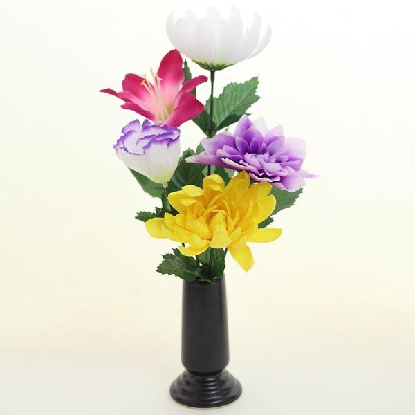 仏具 仏事 お供え 法事 仏花 菊アレンジ国産美濃焼き花台(防水)防水の花台は生花にもご利用いただけます。