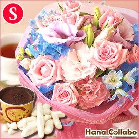 誕生日プレゼント 花束 女性 母 花 ギフト 薔薇 季節の誕生日花(Sサイズ)6月 お祝い スイーツ ギフトセット 贈り物 送料無料 退職祝い フラワーアレンジメント メッセージカード 生花 結婚祝い あす楽