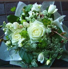 誕生日 父の日 花 開店祝い 送料無料 おまかせ!ホワイト ブーケ 花束 誕生日 父の日 花 開店祝いギフト お祝い 花ギフト ブーケ 結婚記念日 (誕生日 などにも) お祝い 20